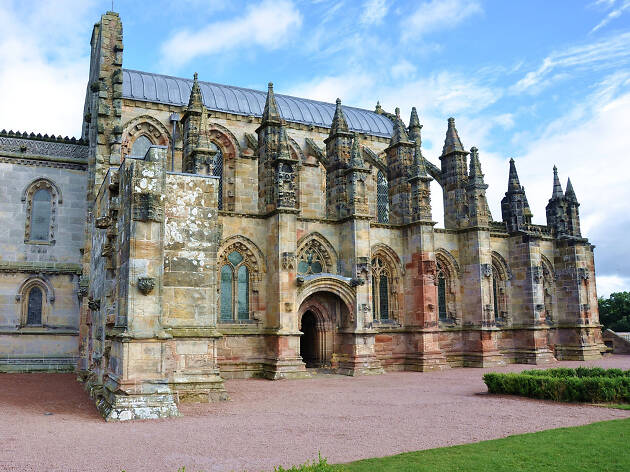 The exterior of Rosslyn Chapel in Roslin