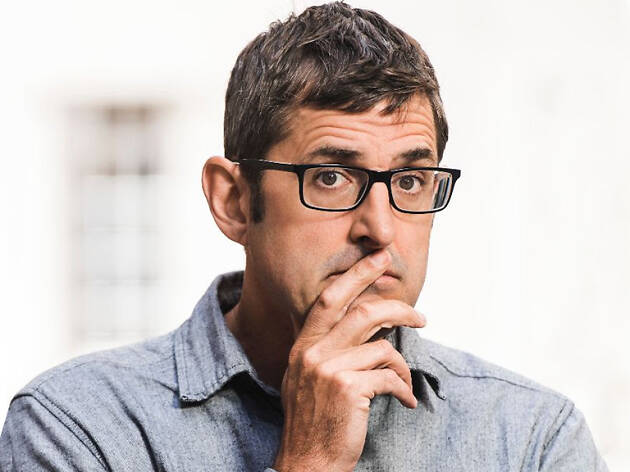 Louis Theroux doing a thinking face.