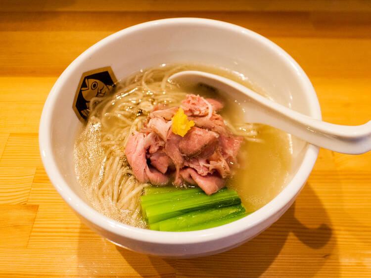 東京、素材で選ぶ魚介ラーメン