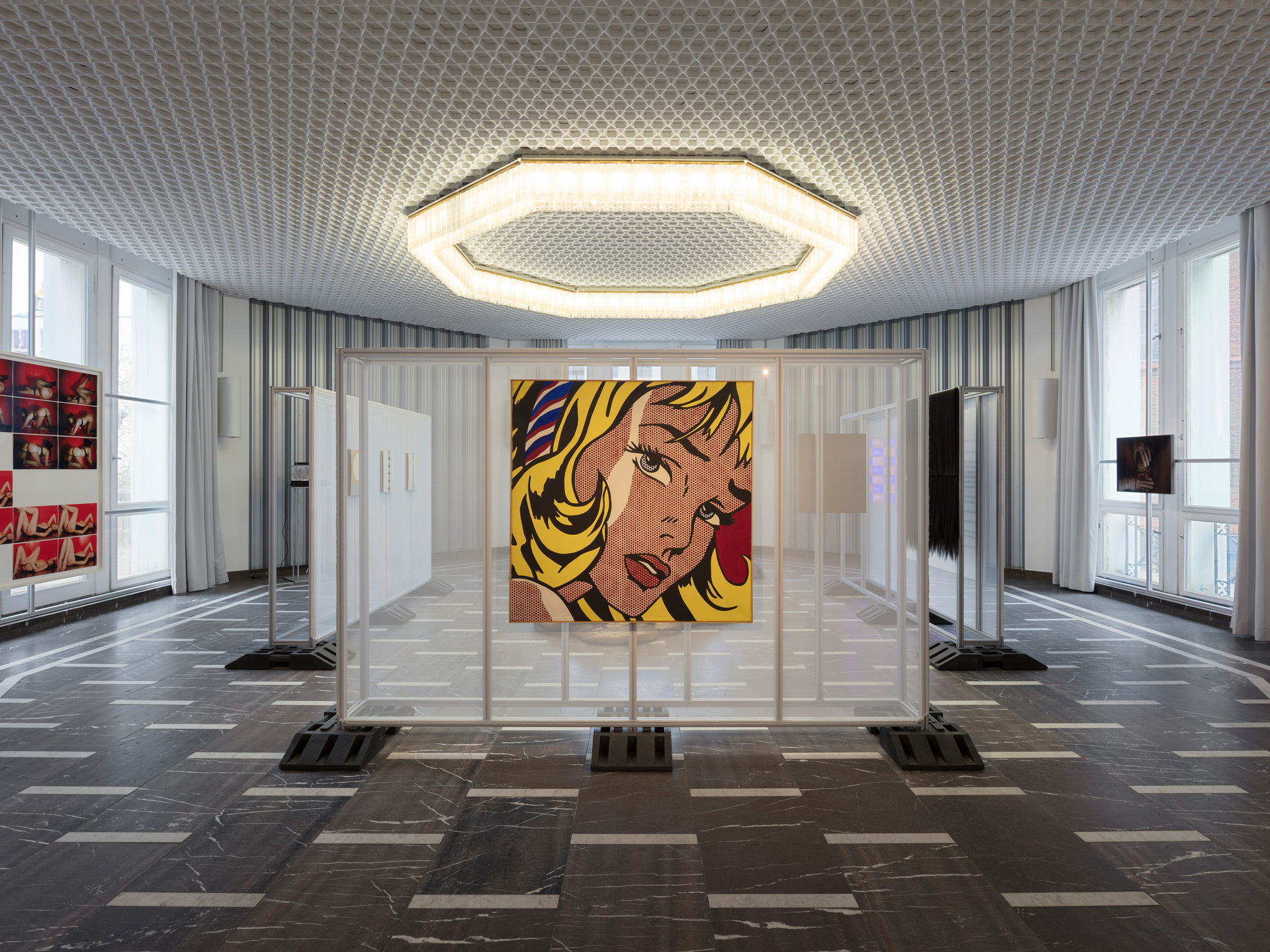 Artwork on display at the Schinkel Pavillon gallery in Berlin