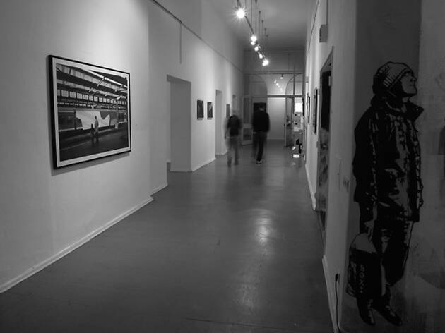 Exhibition space at the Kunstraum Kreuzberg gallery in Berlin