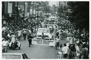 Banner at the 1987 Gay and Lesbian Pride Parade