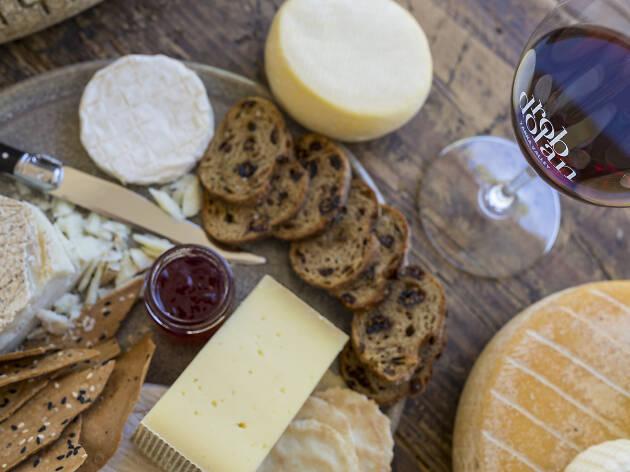 Rob Dolan Wines cheese platter