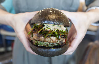 Bao Hiroo bao shop pork burger in Arts District Los Angeles