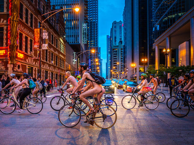 Take a look at photos from World Naked Bike Ride Chicago 2019