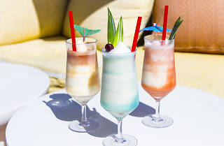 Best summer frozen drinks in Los Angeles at rooftop bar NoMad Hotel in Downtown Los Angeles
