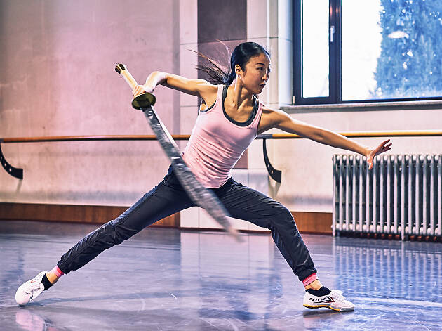 Peiju Chien-Pott in rehearsal for Dragon Spring Phoenix Rise