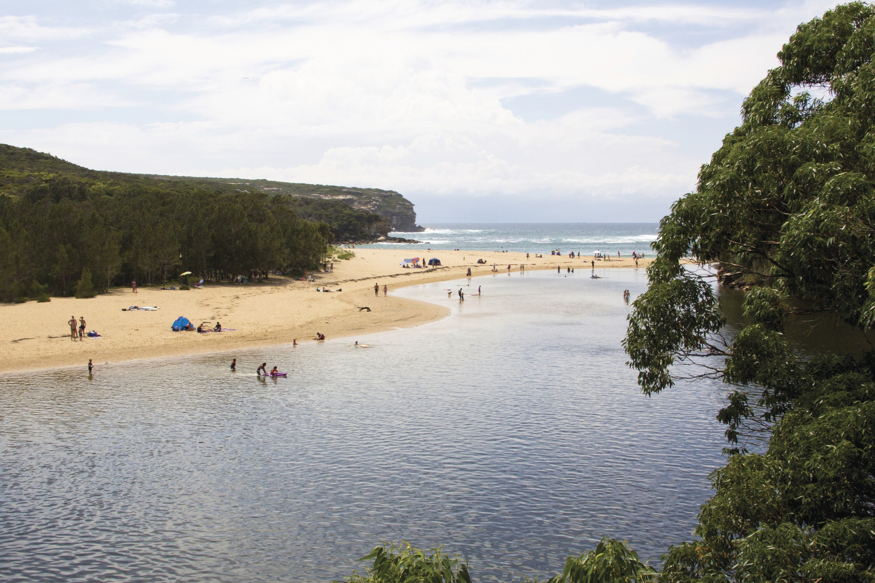 Wattamolla Lagoon and Beach in the Royal National Park.