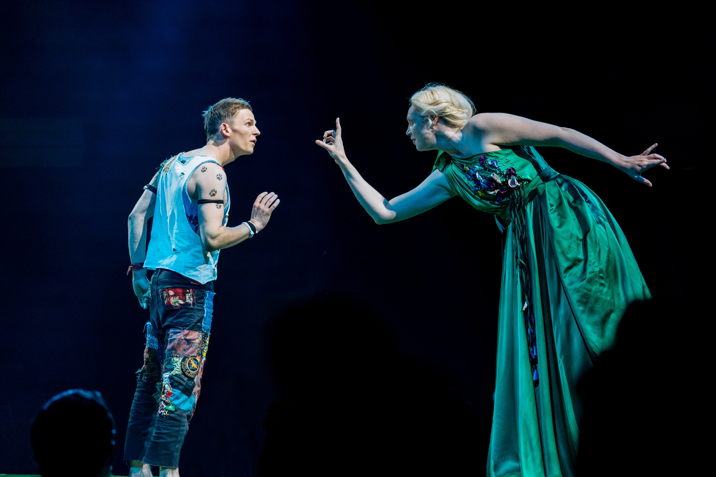 "<meta charset=""utf-8"" /><p><span>David Moorst (Puck) and Gwendoline Christie (Titania)</span></p>"