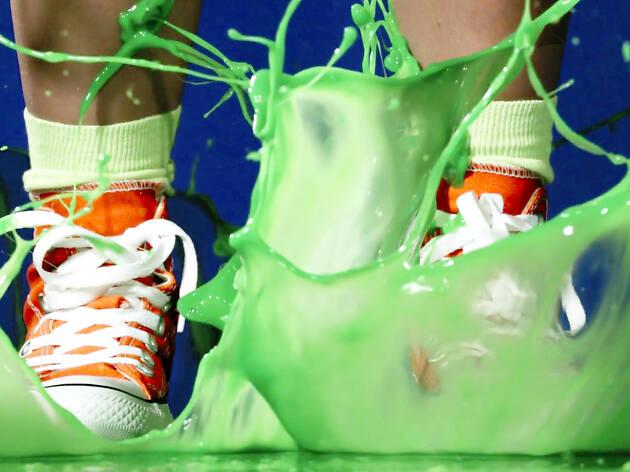 Nickelodeon slime Carney's Restaurant takeover
