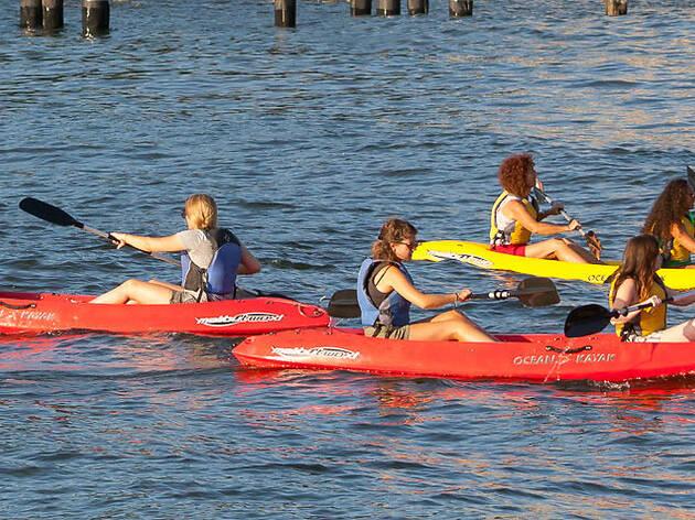 Kayaking in Brooklyn Bridge Park