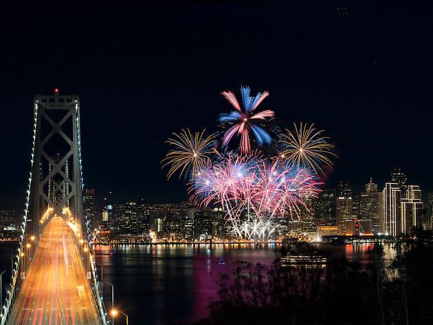 Fourth of July fireworks San Francisco