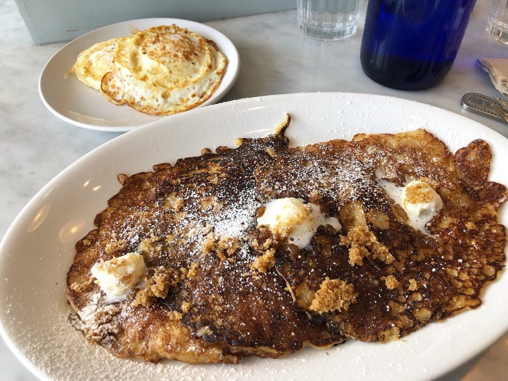 Breakfast by Salt's Cure griddle cakes in West Hollywood Los Angeles