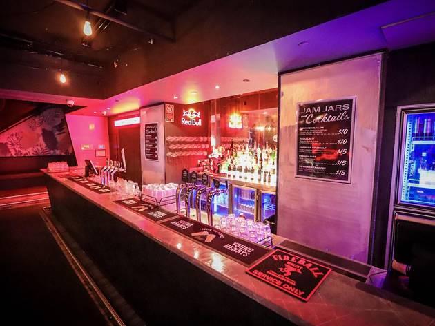 A backlit bar