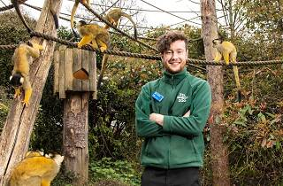 David Waite, primate keeper at London Zoo