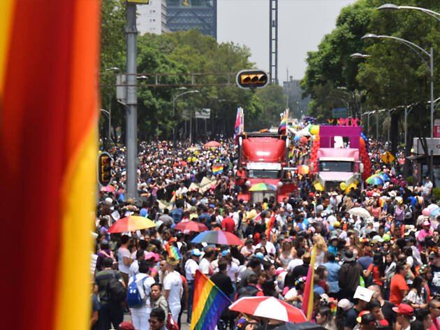 Elenco de la marcha gay