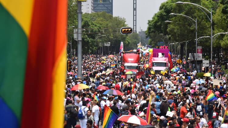 Elenco de la marcha gay