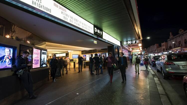 People walking outside on street at Dendy Cinema Newtown