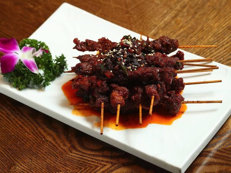 Cumin lamb slices at Dainty Sichuan, $30.80