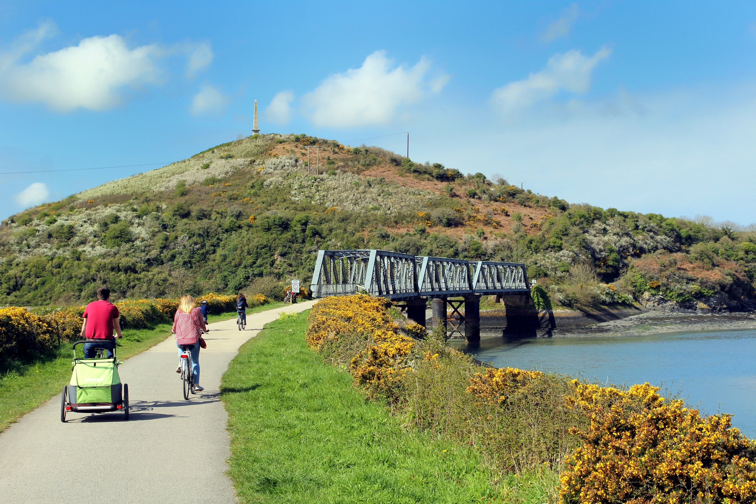 The camel trail in Padstow