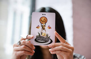 Tamara aka the Wolf Sister does tarot card readings in London