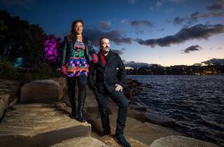Wellama artists (Alison Page and Nik Lachajczak. Photograph: Anna Kucera)