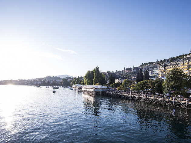 Montreux Jazz Festival, bathing in Lake Geneva