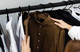 Generic clothing at shop