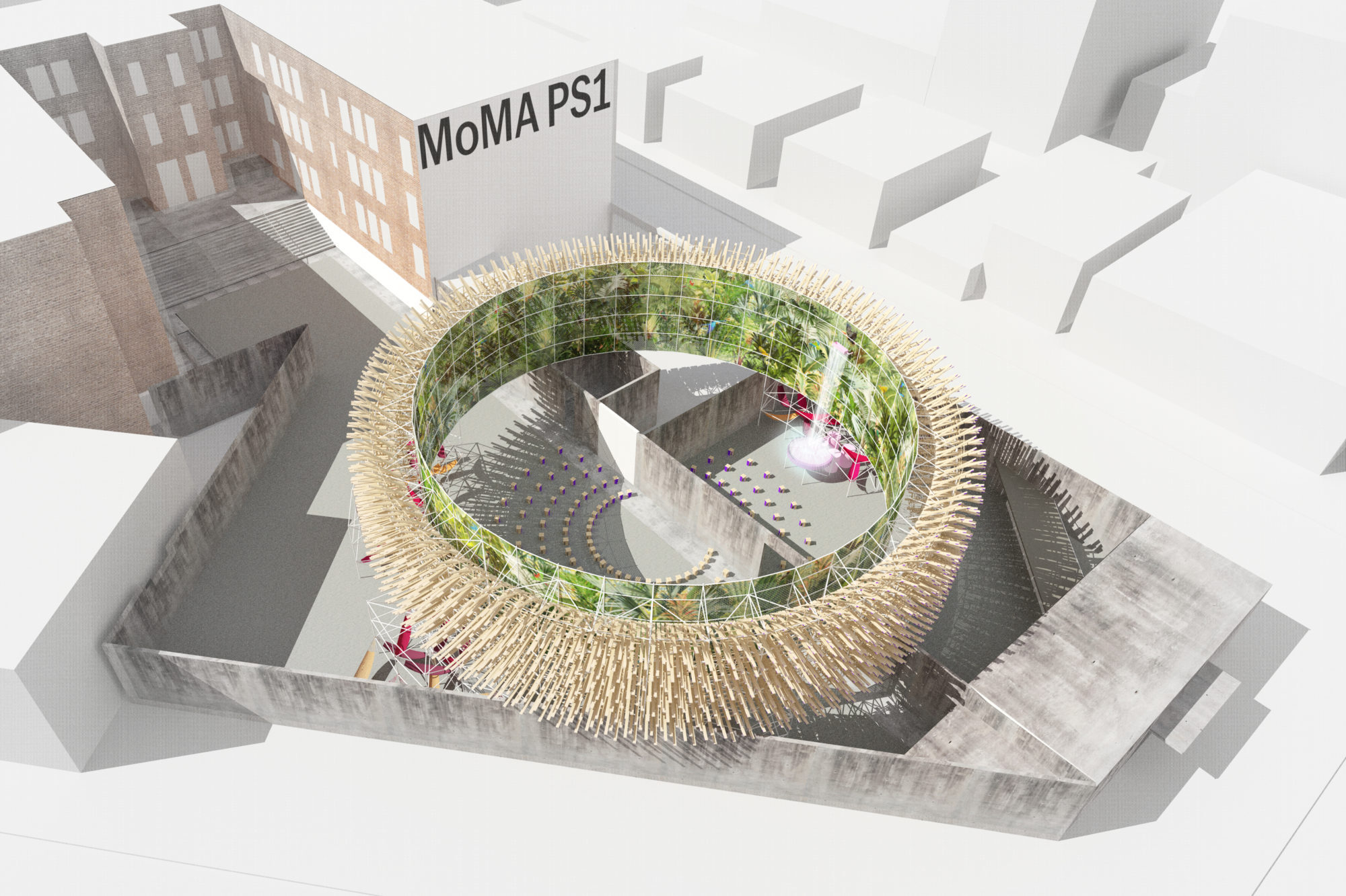 This immersive outdoor jungle installation is coming to MoMA PS1 this summer