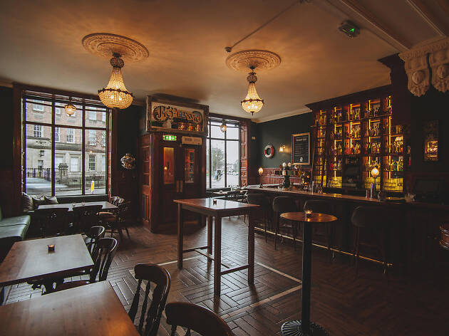 The interior of Nauticus pub in Edinburgh