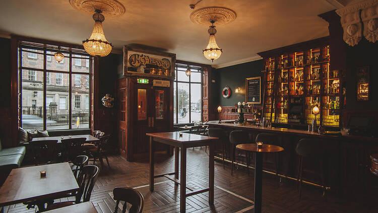 The interior of Nauticus pub in Edinburgh