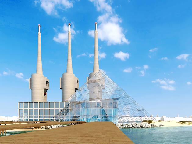 Piràmide que Amlaak planeja construir a Sant Adrià del Besòs