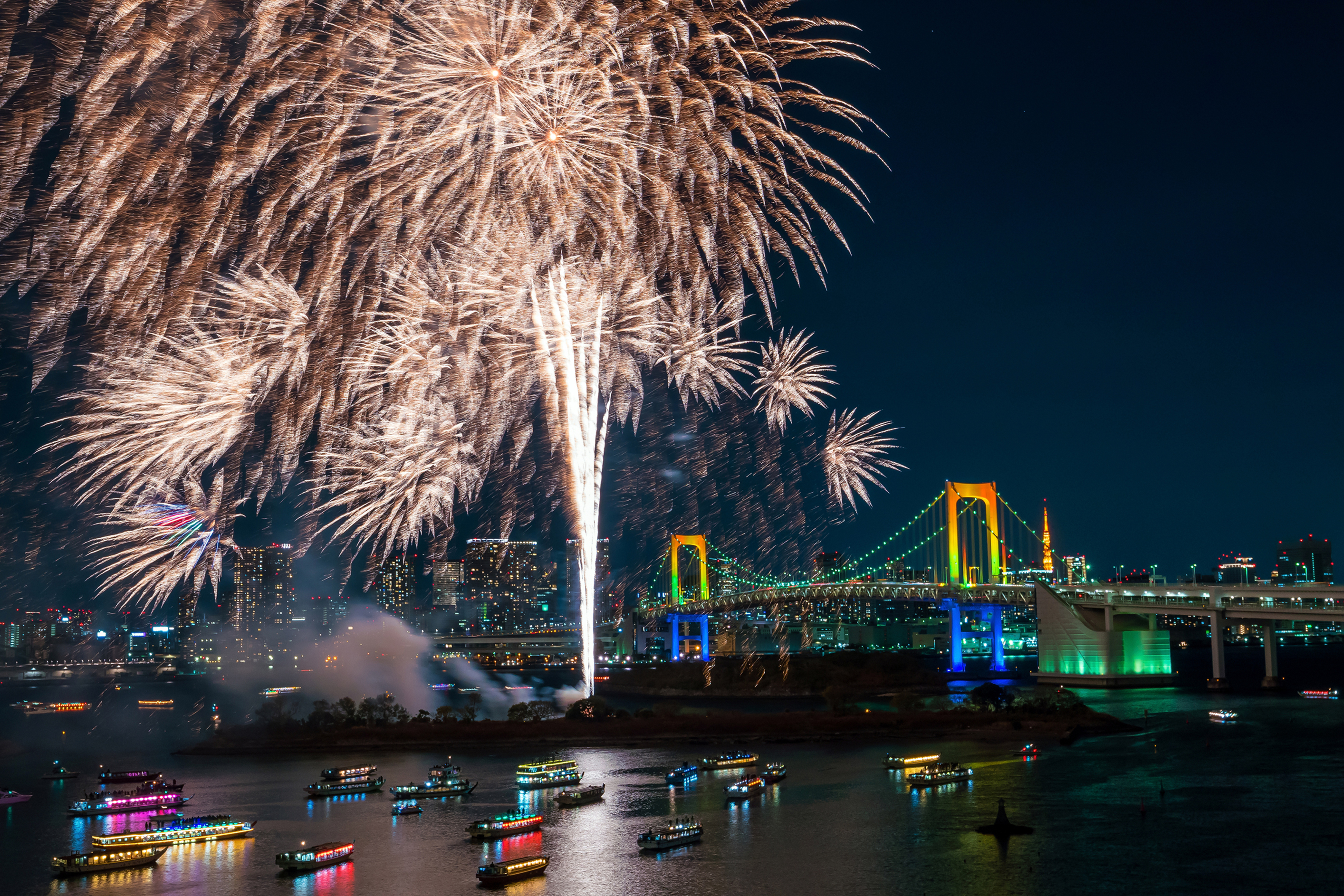 Tokyo Fireworks Festival - stock photo