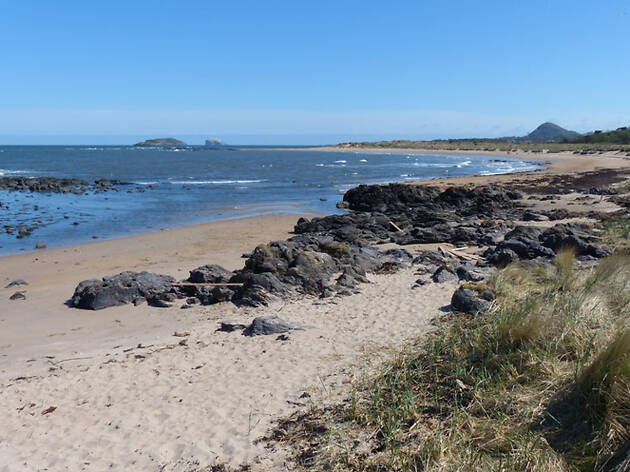 A beach in East Lothian