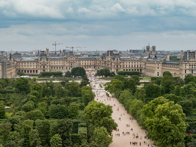 A view of the Louvre from the Jardin des Tuileries