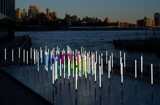 You can walk through a forest of light on the Manhattan waterfront