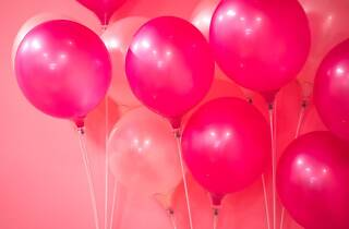 pink balloons, party