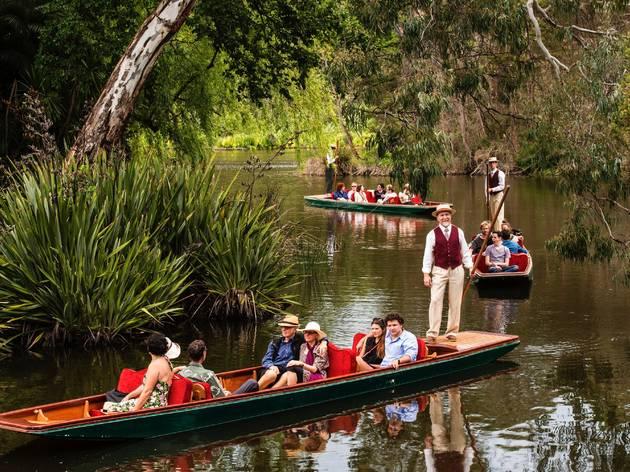 Punting on the Lake Royal Botanic Gardens