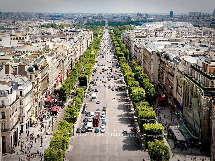 Shopping on the Champs-Élysées