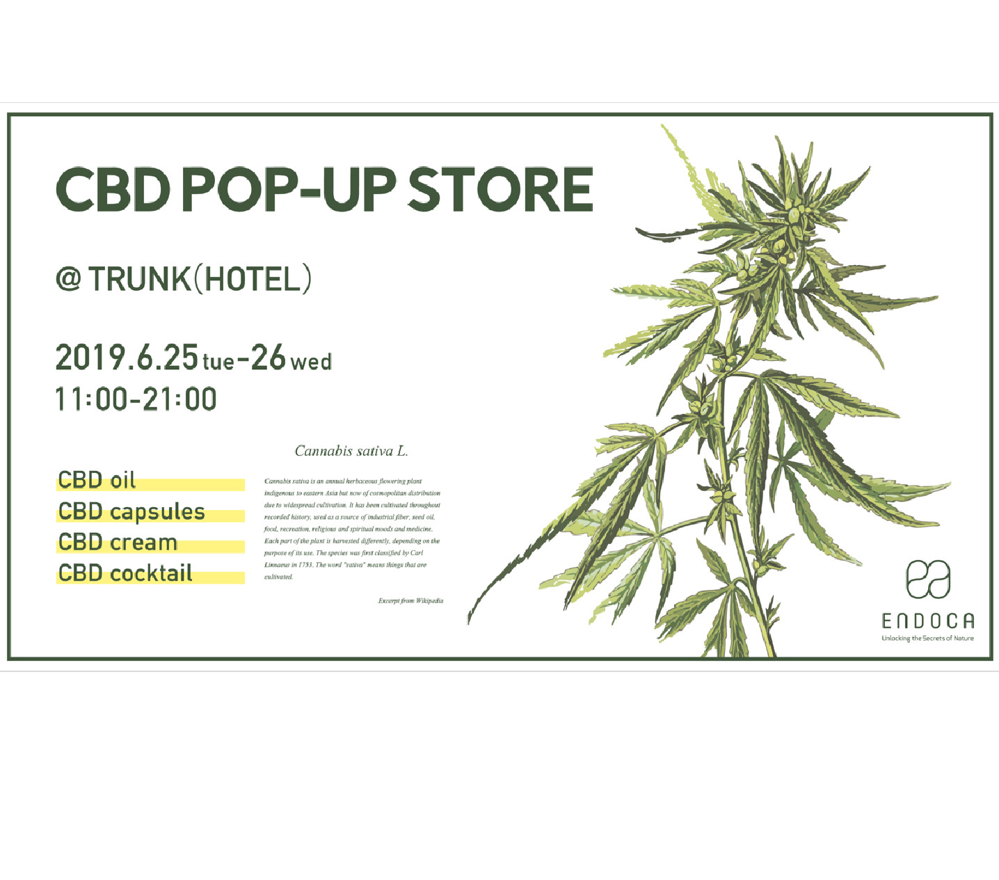 CBD Pop-Up at Trunk Hotel | Things to do in Tokyo