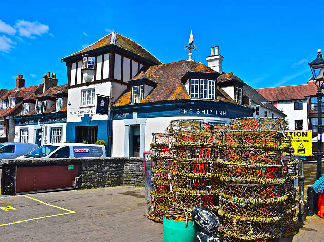 Lymington town seafront