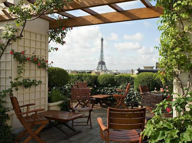 Terrasse de l'hôtel Raphael