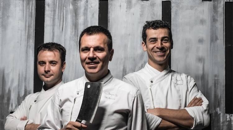 Oriol Castro, Mateu Casañas i Eduard Xatruch del Disfrutar