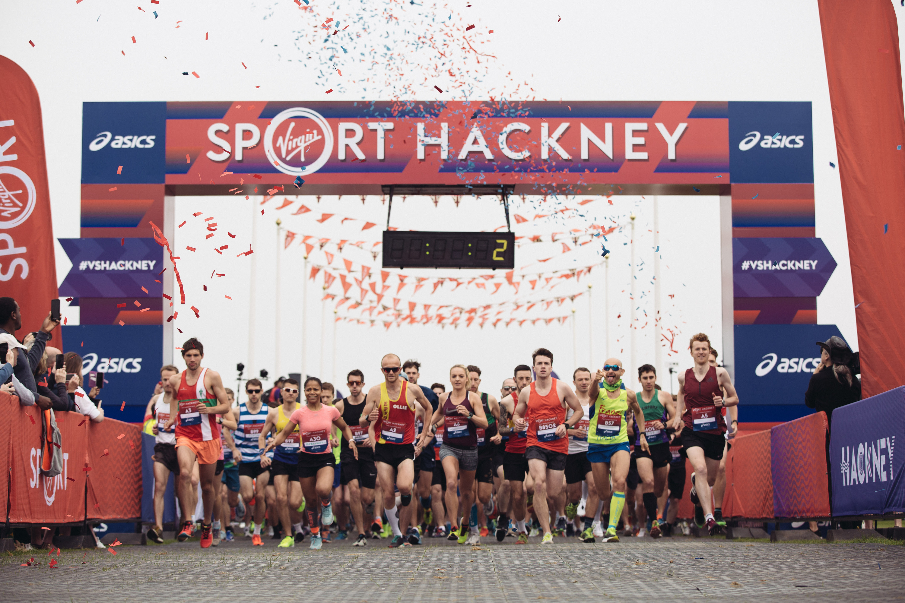 Runners at the Hackney Half marathon