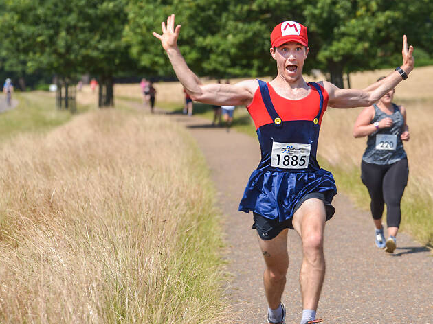 Mario at the Richmond Park Half Marathon