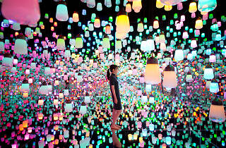 TeamLab Forest of Resonating Lamps
