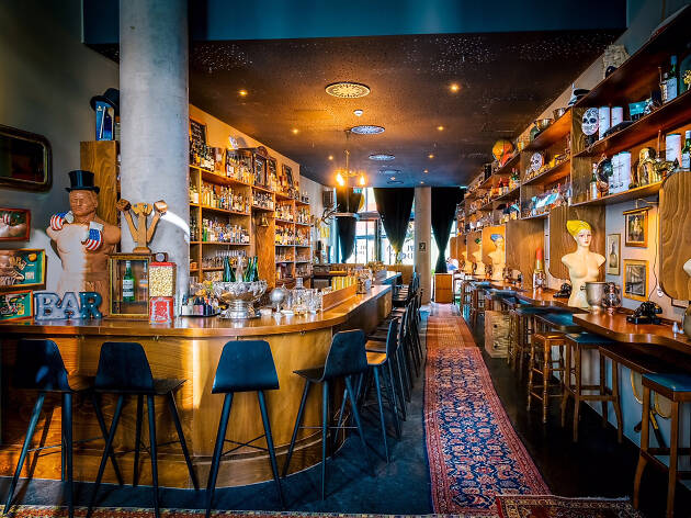 The eclectic interior of Hunky Dory Bar in Frankfurt