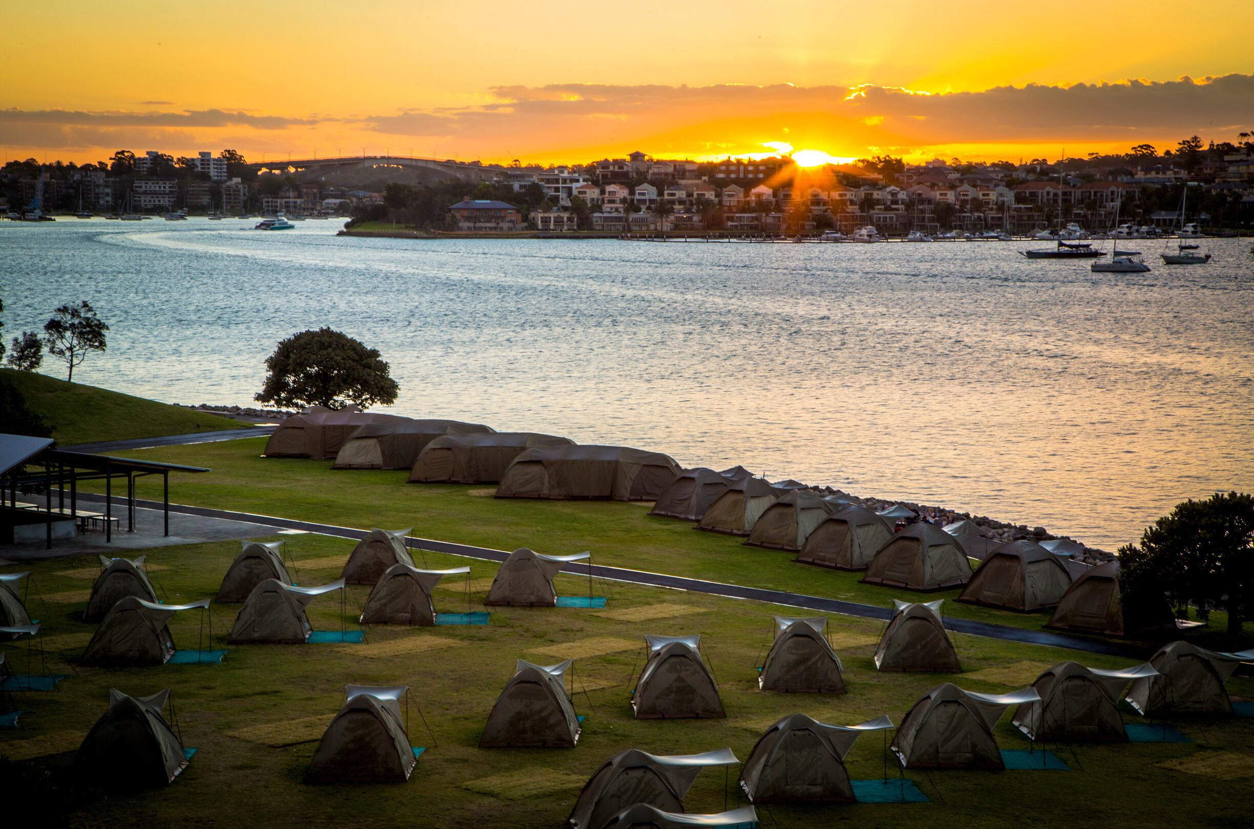 Camping, Cockatoo Island