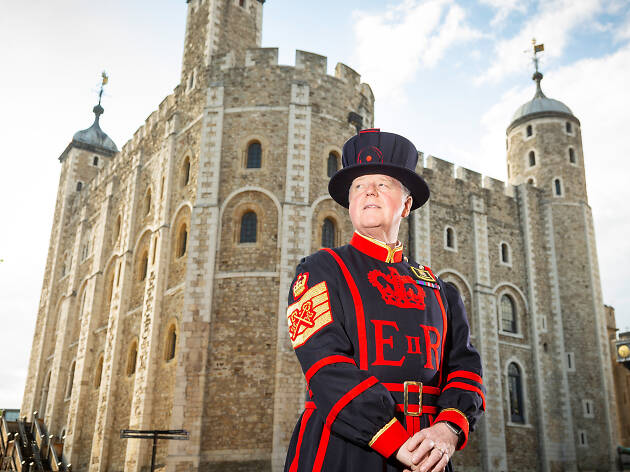Peter McGowran, a Tower of London Yeoman Warder (Beefeater)