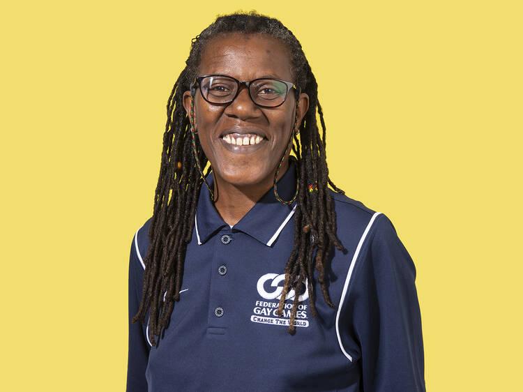 Joanie Evans, co-president of Gay Games